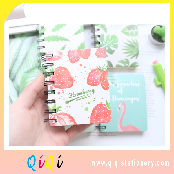 fresh style hardcover spiral notebook
