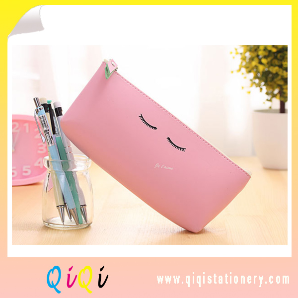PU pencil bag Modern girl style student stationery