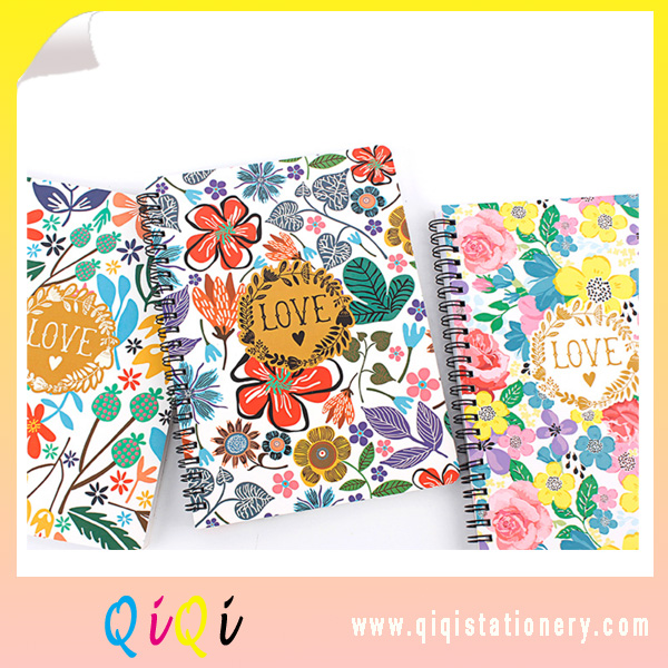 Cheap promotional office and school supplies double spiral notebooks