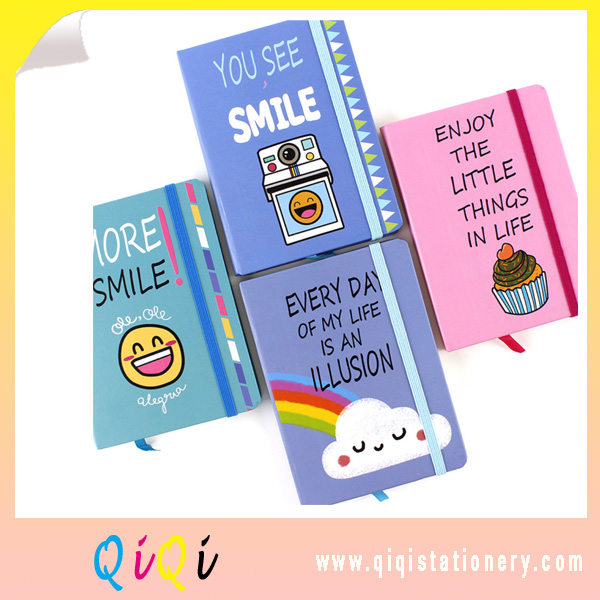hot and cheap smile series A5 hard cover notebook