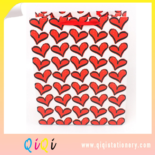 Heart style  online shopping birthday party gift bag