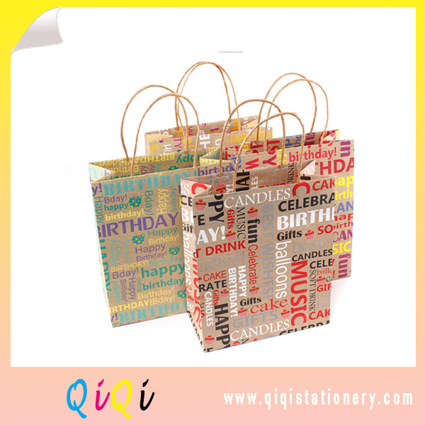 cheap wholesale kraft paper  Birthday gift bags