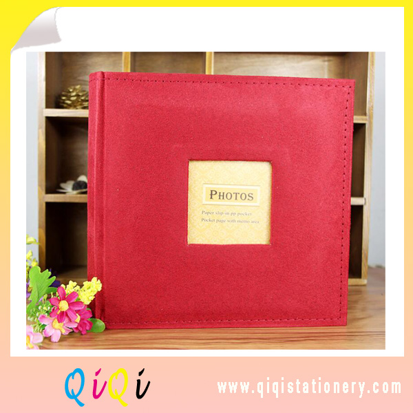 customize top quality suede fabric cover photo album wedding photo album gift