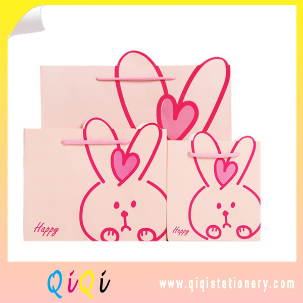 Rabbit style lovely gift packing bag paper bags