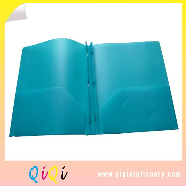 3 prong pocket plastic file folder
