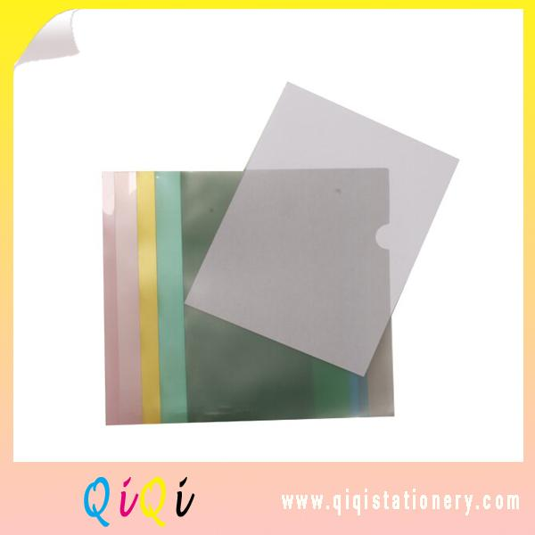 L shape plastic file folder