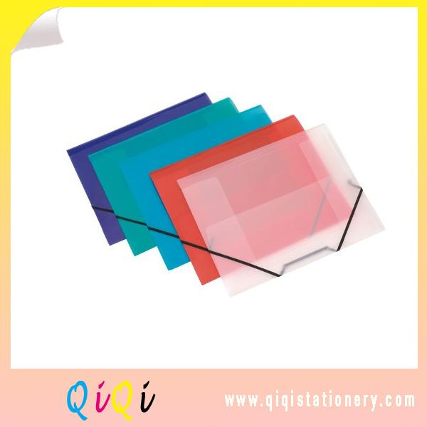 poly plastic file folder with elastic closure