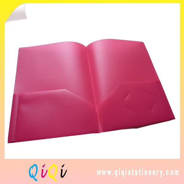 transparent plastic two pocket poly file folder