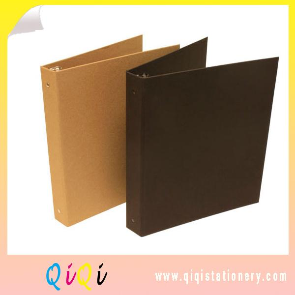 recyled kraft paper cardboard ring binder