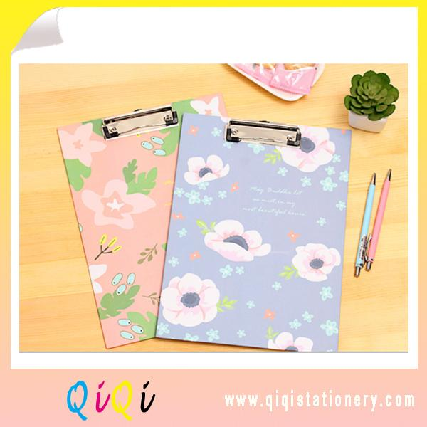 Floral style A4 Paper clipboard