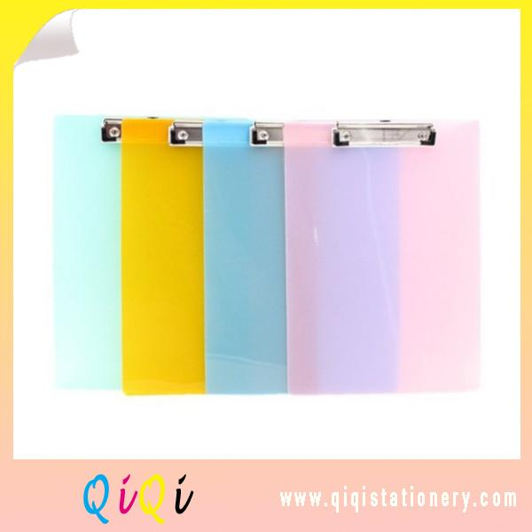Candy color transparent  PP A4 Clipboard