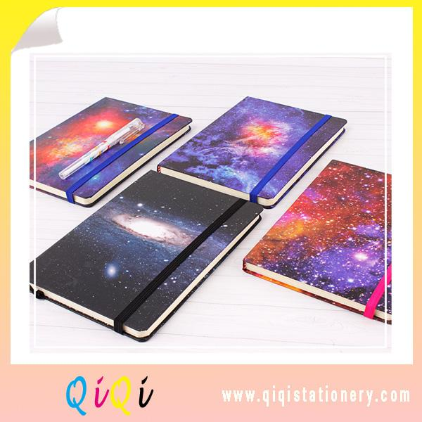 Star sky series stationery gift luxury notebook with elastic