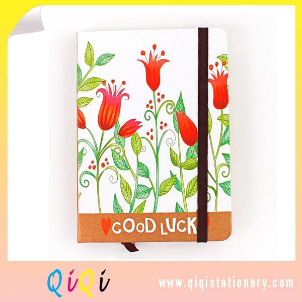 Elastic Banded Hard Cover  Paper Notebook