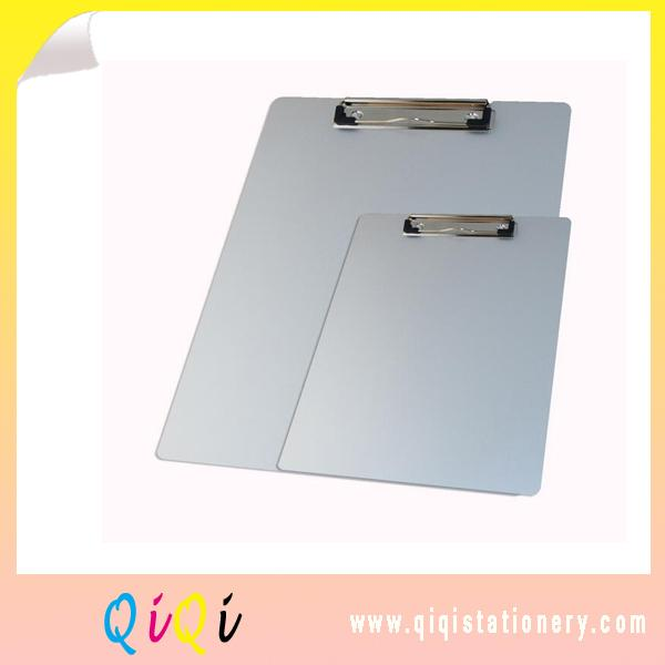 Silver Aluminum clipboard with clip holder