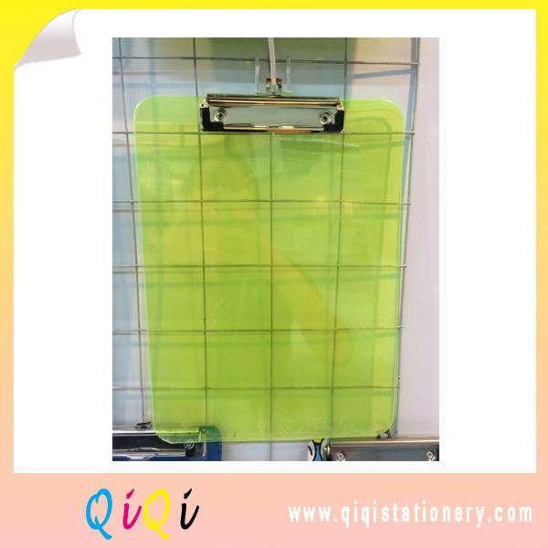 a5 colored plastic transparent PS clipboard without ruler scale