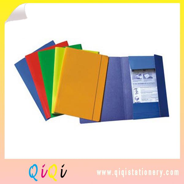 Solid a4 file folder with elastic band