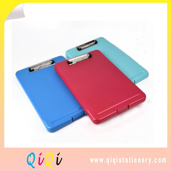 China supply folding plastic flat clip storage clipboard